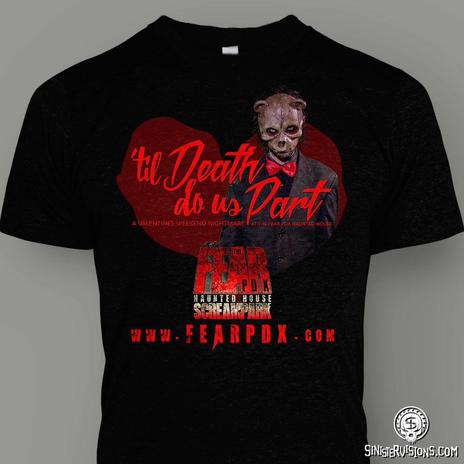 sinister visions t shirt design for haunted houses haunted. Interior Design Ideas. Home Design Ideas
