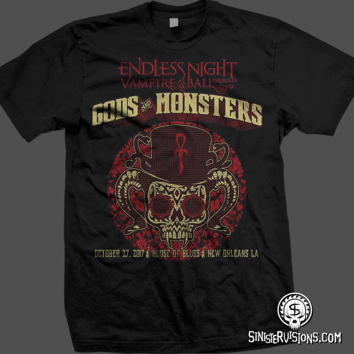Sinister Visions T Shirt Design For Haunted Houses Haunted