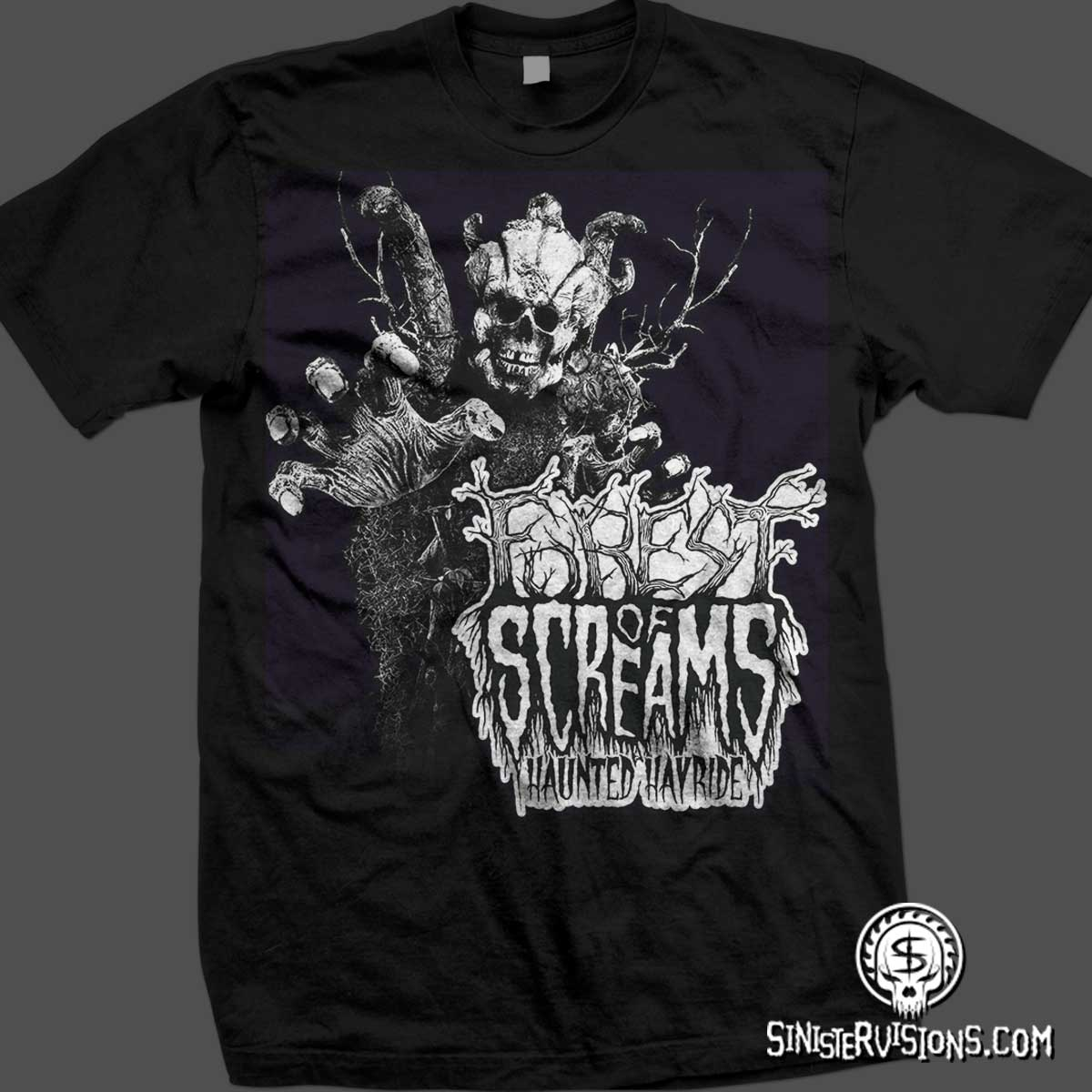 High T Shirt Designs   Sinister Visions T Shirt Design For Haunted Houses Haunted