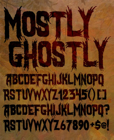 Mostly Ghostly Font