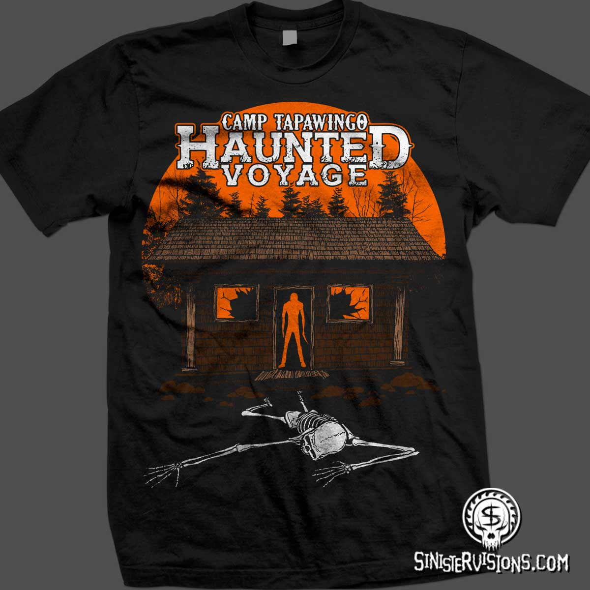 Sinister Visions: T-shirt design for haunted houses, haunted