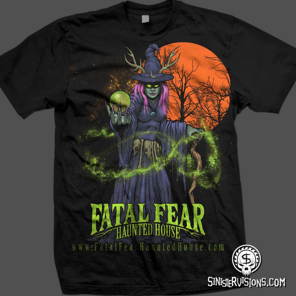 5dfbf4e99 Sinister Visions: T-shirt design for haunted houses, haunted ...
