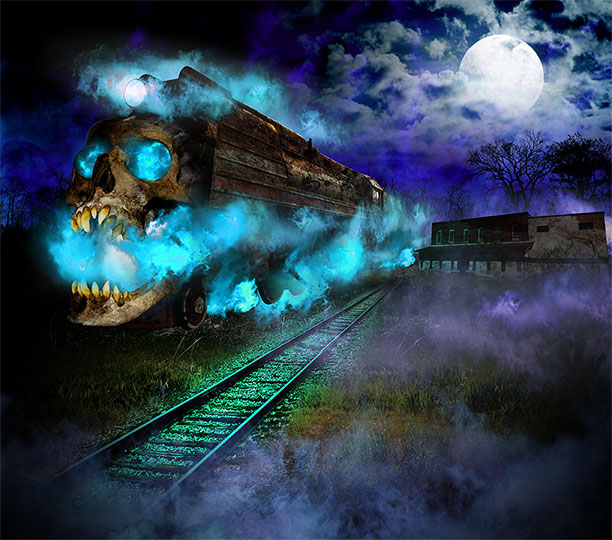 harvested farm nightmares marketing artwork derailed haunted house marketing artwork